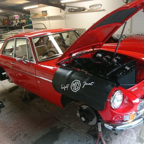 MGB GT Servicing Restoration SJS Classic Automotive Services