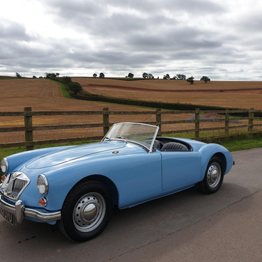 MGA Finished after it's complete body & chassis restoration
