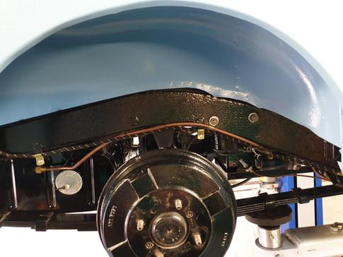 MGA Underside of restored classic