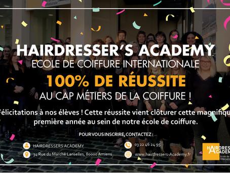 100 % de réussite pour nos CAP métiers de la coiffure !