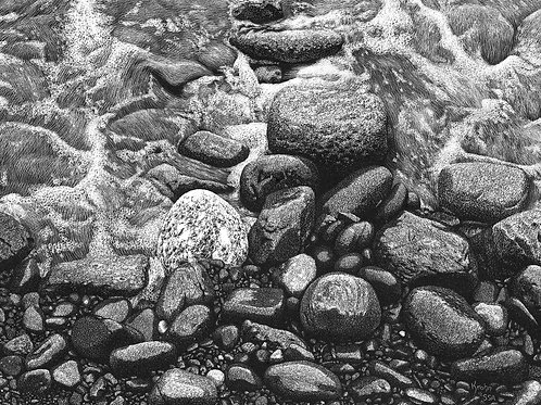 """""""Washed Ashore"""" 5 x 7 Giclee Print"""