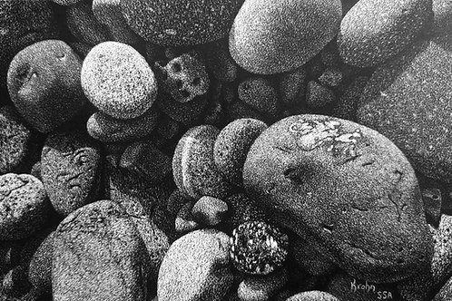 """Little Rocks"" 3 x 5 Giclee Print"