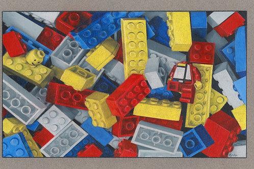 """Mondrian Lost His Head""  6 x 9 Giclee Print"