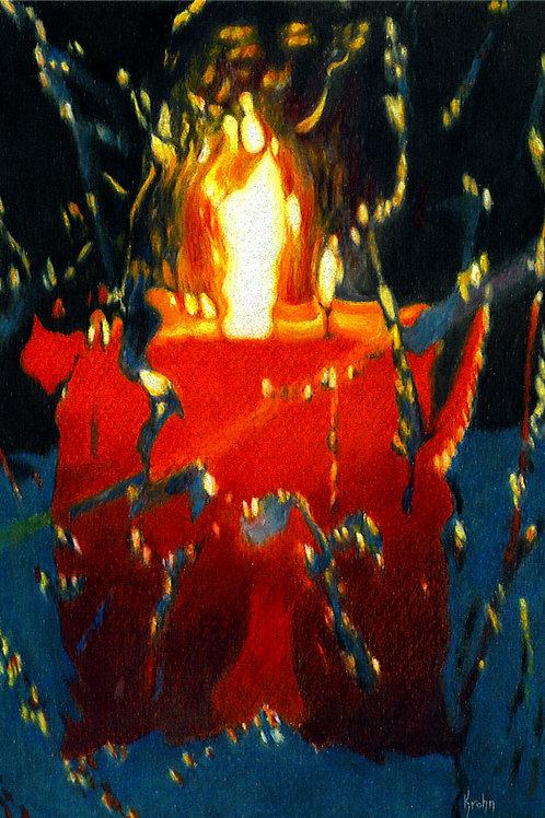 """Ice Lantern"" 9 x 6  Giclee Print"