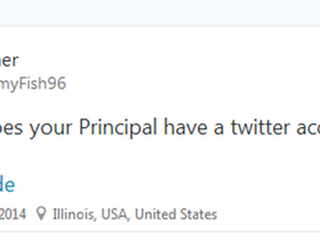 Connecting with Their Principal Through The Power of Twitter