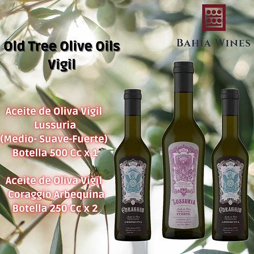 Box  Aceites de Oliva Vigil - Lussuria + Coraggio