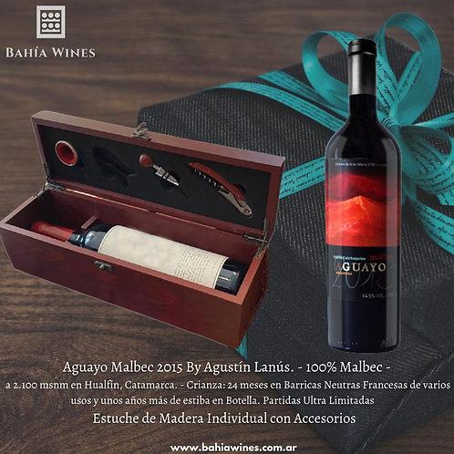 Aguayo Malbec 2015 by Agustín Lanús con Estuche para Regalo