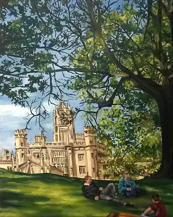 Lounging by St.John's, Cambridge