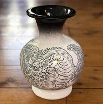 Large hand-formed vase