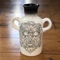 Hand-formed bottle vase