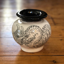 Small hand-formed vase
