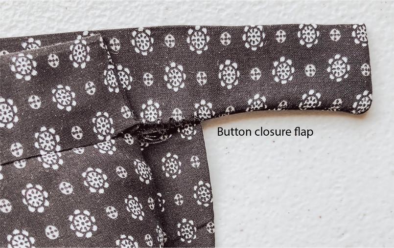 Button Closure Flap