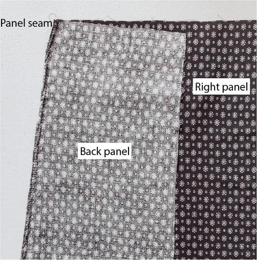 Right Panel Back Seam