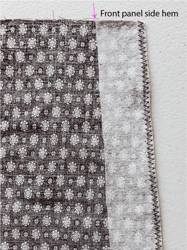 Front & Right Panel Side Hem