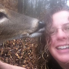 "Deer encounter with Rev. Dr. Becky Rector, described in book ""Soul Journey's-Discovering Your Heart's Desire"""