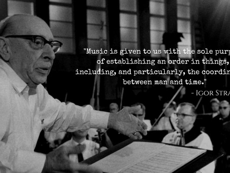 Stravinsky on the purpose of music