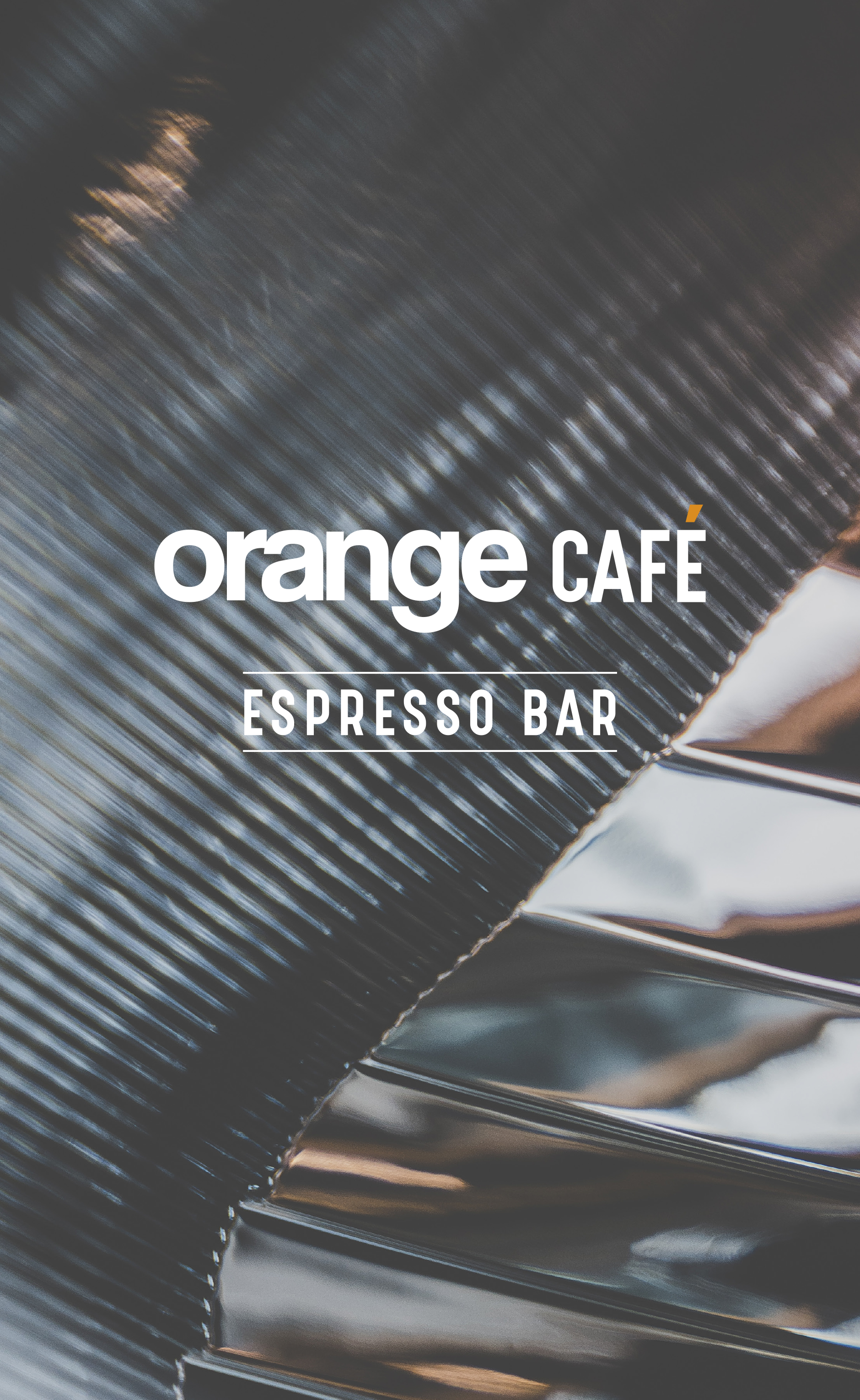 Orange - Cafe Menu Front