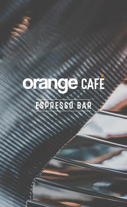 Orange - Cafe Menu Front