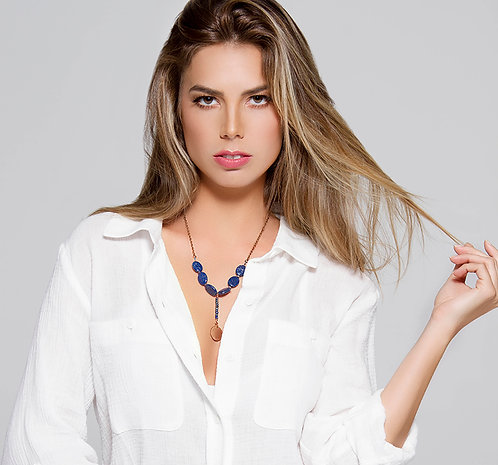 Lapis Lazuli coin necklace