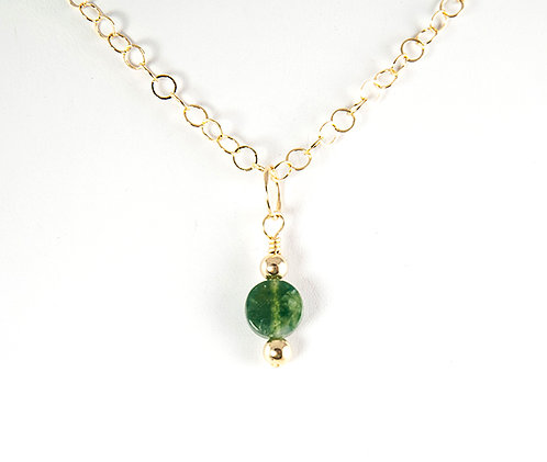 As seen on Law and Order: SVU moss agate golf-filled necklace