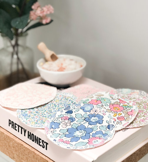 Liberty Print Reusable Face Wipes