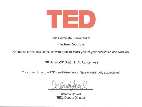 Je fais maintenant parti de la famille TEDx