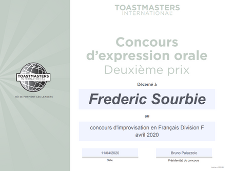 Concours de discours Toastmasters