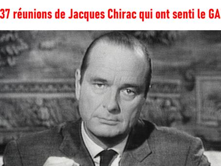 Les 37 réunions de Jacques Chirac qui ont senti le gaz