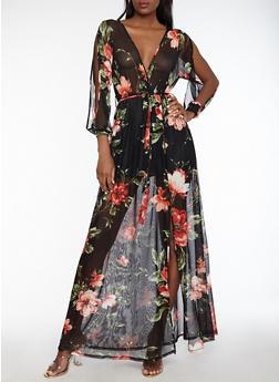 8ba806c20ab Floral Mesh Maxi Dress