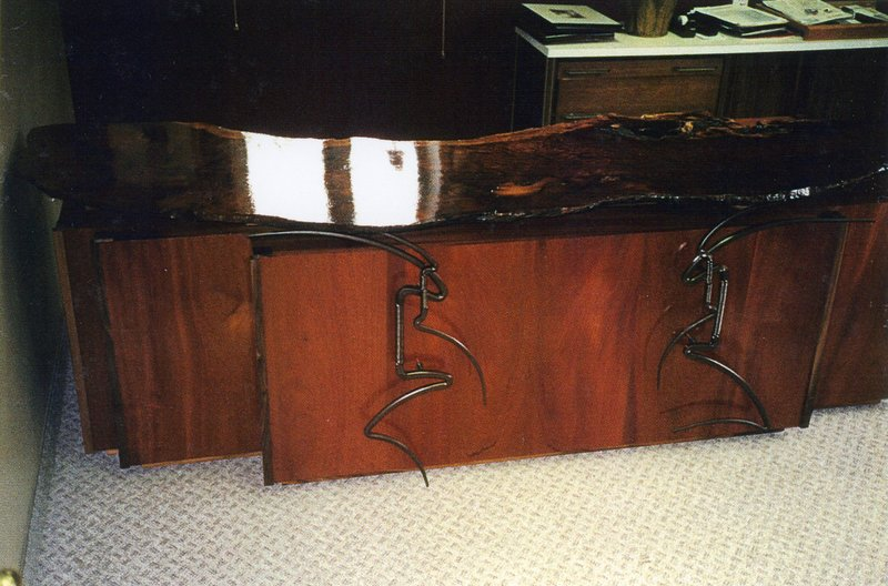 Redwood Office Desk & Credenza