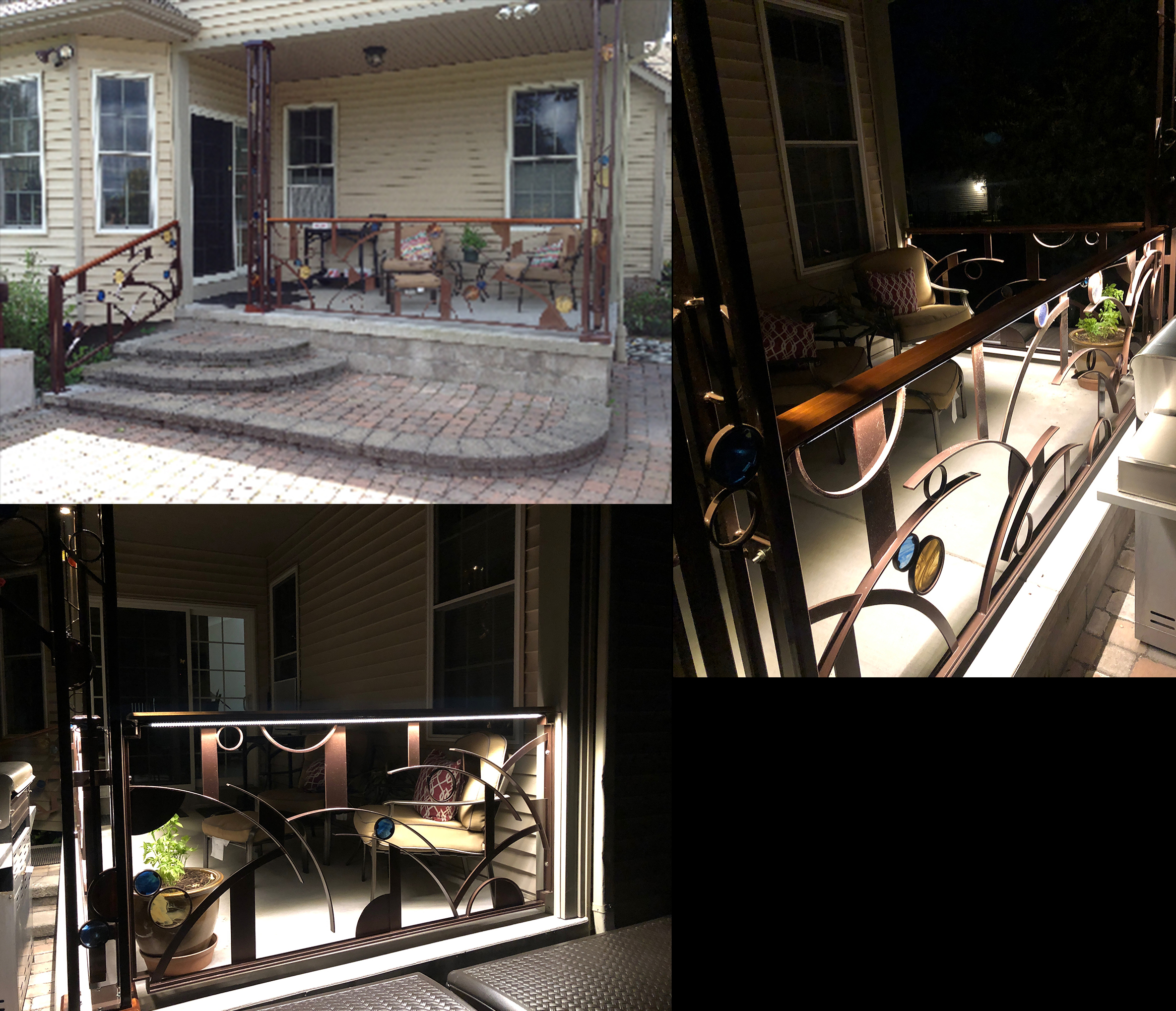 Decorative Railing Day & Night