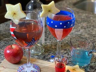Red, White & Blue Sparkler Cocktail