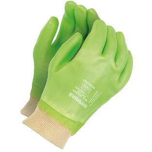 PVC Green Centurion Gloves Knit Wrist