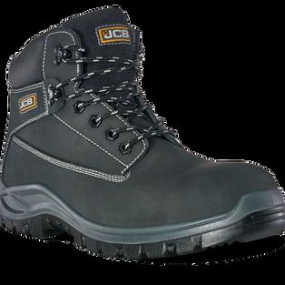 JCB Holton Black Nubuck Safety Boot