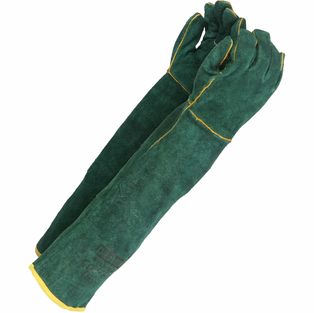 Green-lined Shoulder Welding Gloves