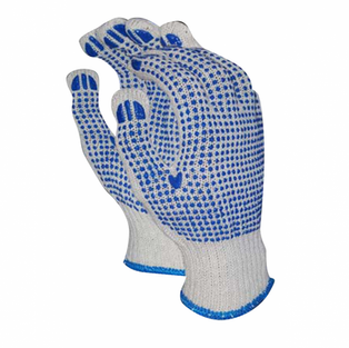 Double Dotted Cotton Knit Wrist Glove