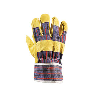 Yellow Candy Stripe Gloves
