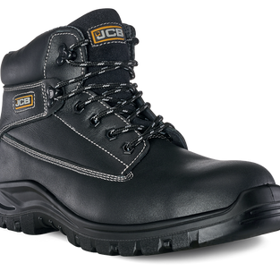 JCB Holton Black Smooth Safety Boot