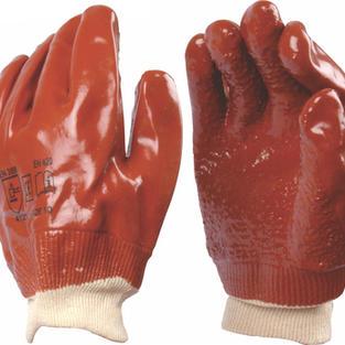 PVC Extra Heavy Duty Gloves Knit Wrist