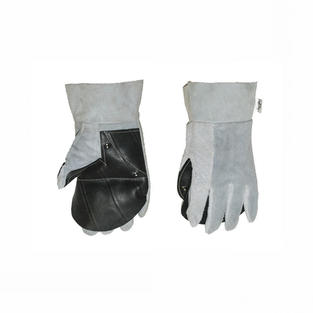 Chrome Leather Rubber Palm Brick Gloves