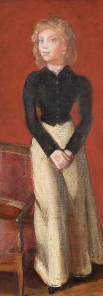 Portrait d'une jeune fille en costume d'amazone