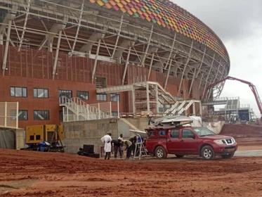 Can 2022 : des images de ce vendredi qui montrent que le stade Olembe n'est pas encore prêt