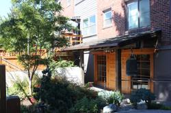 zen garden and entry porch