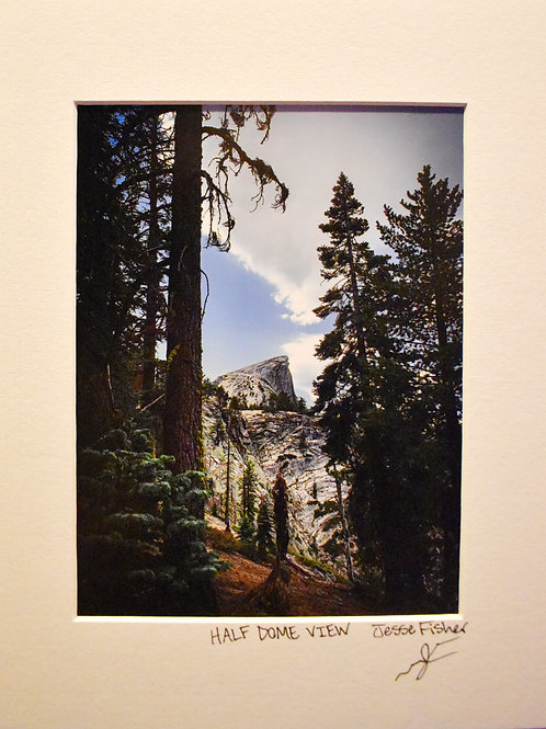 Half Dome View 8x10 Matted Print