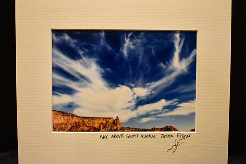 Sky Above Ghost Ranch 8x10 Matted Print
