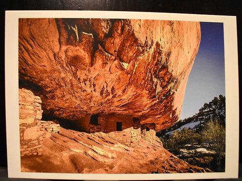 House on Fire Ruins 5x7 Postcard