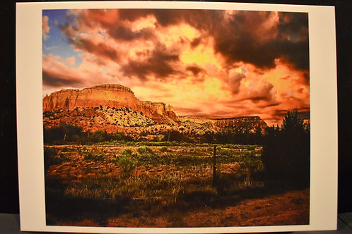Kitchen Mesa Sunset 5x7 Postcard