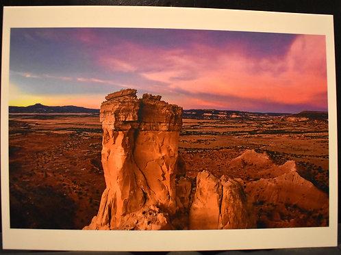 Chimney Rock Sunrise 5x7 Postcard