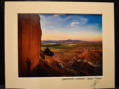 Sandstone Sunrise 8x10 Matted Print