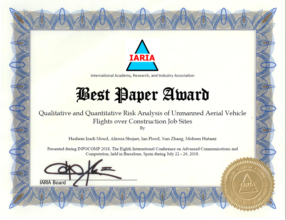 Hashem's Paper Received the Best Paper Award.
